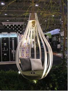 Earth Inc's hanging chair made of Corian