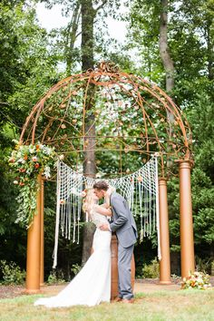 This macramé ceremony backdrop is giving us all the feels.  Venue: potomacpointwinery Photographers: kassielayne, aliraehaney   Styled Shoot Coordinator: klaynestyled Gown: avalaurennebride Florist: bergeronsflower Beauty: evergreen.beauty & magnificent_mane17 Ceremony Backdrop, Wedding Ceremony, Boho Gown, Bohemian Wedding Inspiration, Event Venues, Wedding Photos, Wedding Ideas, Real Weddings, Backdrops