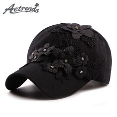 446fe0ab0ce  AETRENDS  2017 Women s Floral Applique Baseball Caps Women Hat Accessories Snapback  Caps Z-5332