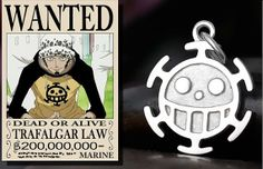 One piece Amine Trafalgar·Law 925 Sterling Necklace Cosplay