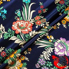 Blue Feathers Brocade Fabric Damask Jacquard Apparel Costume Upholstery Furnishing Curtain Materil Patchwork Fabric 75Cm*50Cm