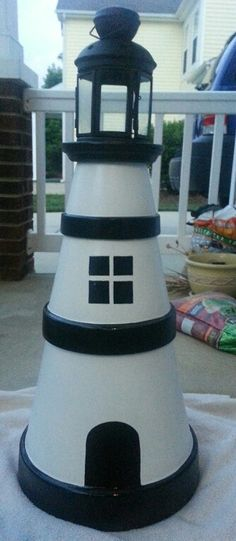 Terracotta pot lighthouse