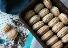 Earl Grey Macarons with Cream Cheese Filling (makes about 25 small-medium macaron shells): •53g egg white •25g granulated/ caster sugar •100g icing/superfine sugar •60g ground almonds •1 earl grey tea bag || Cream cheese frosting (makes more than needed)- •100g full fat cream cheese •30g butter •150g icing sugar
