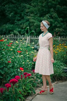 Outfit // Summer Polka ( thoughts on vintage fashion and lifestyle)