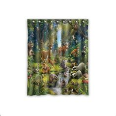 Custom Animals In The Forest Window Curtains/Drape/Panels...