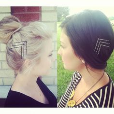 Bobby pin, chevron arrows -- By Taylor Nick, William Edge Salon, Nashville, TN