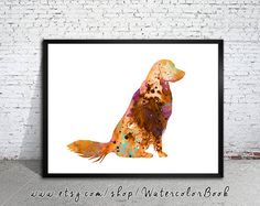 Golden Retriever 7 Watercolor Print Golden Retriever Art