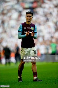 Jack Grealish of Aston Villa after the Sky Bet Championship Play Off Final match between Aston Villa and Fulham at Wembley Stadium on May 26 2018 in. Black Muscle Men, Jack Grealish, M Jack, Wembley Stadium, Aston Villa, Fulham, Sport Man, Soccer Players, Good Looking Men