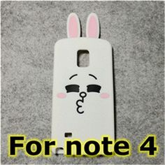 3d cute cartoon bear & rabbit ultra thin protective cover case for samsung galaxy S3 S4 S5 S6 S7 edge note 3 4 5 7 A5 A7 A8