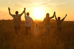 Family in field ~ getting much needed Vitamin D