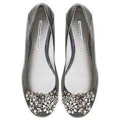 Crystal Detailed Vera Wang Lavender Ballet Flats - Vera Wang... - Polyvore