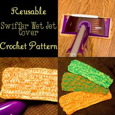 This swiffer cover cleans so well and saves you all kinds of money too! FREE for a limited time! Crochet this reusable Swiffer pad to save money and have something that works better than the disposables! Crochet Kitchen, Crochet Home, Knit Or Crochet, Crochet Crafts, Crochet Baby, Free Crochet, Swiffer Pads, Knitting Projects, Crochet Projects
