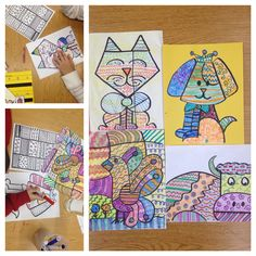 Romero Britto art lesson - special education // elementary school age // elements of design - line /. Elements Of Art Line, Elements Of Design, Kindergarten Art Lessons, Art Lessons Elementary, Marker, Line Art Lesson, Art Education, Special Education, Visual Art Lessons