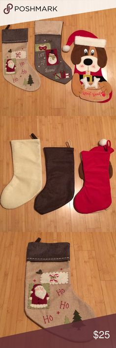 Bundle of 3 Christmas Stockings Bundle of 3 Christmas Stockings. In a very good condition.  Bundle and save. Other