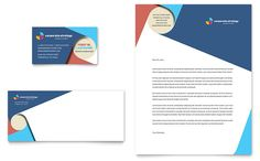 Corporate Strategy Business Card and Letterhead Template Design by StockLayouts