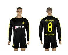 Maillot Dortmund Gundogan 8 Extérieur Manches Longues 2013-2014