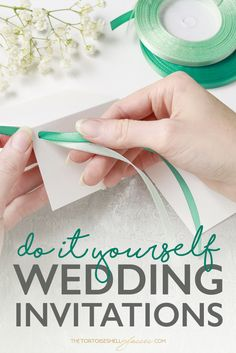 DIY Tutorial: tips + tricks on How-To Successfully make your own Wedding Invitations - Wedding invites, wedding DIY, invitations, DIY wedding invites simple, vintage, crafty, wedding RSVP, white wedding invites, harry potter, Cristina Re Luxury Linen, Save the Dates, Engagements Invitations.  Paper - Source: www.thetortoiseshellglasses.com