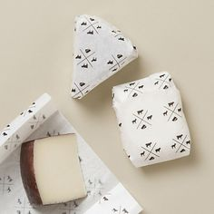 adorable paper & stickers for proper storage of cheese. how cute to wrap cheese in hostess gift (#ideallife)-
