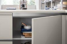 Μοντερνα επιπλα κουζινας απο την Veneta Cucine - μοντέλο START J Home Design, Design Ideas, Kitchen Decor, Kitchen Design, Restaurant, Corner Desk, Cabinet, Furniture, Storage