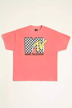 Product Name:Checkered MTV Graphic Tee, Category:mens-main, Price:17.9