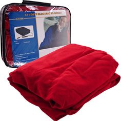 75-Rb680 Trademark Electric Blanket For Automobile - 12 Volt - Red