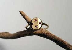 Women gold ring / Ruby ring / Ring with stones / July by shmukies
