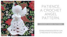Knitting Patterns Yarn Patience, A Crochet Angel Pattern Crochet Stocking, Crochet Tree, Crochet Angels, Crochet Christmas Ornaments, Crochet Quilt, Crochet Gifts, Christmas Angels, Christmas Deco, Free Crochet