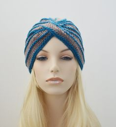 Hey, I found this really awesome Etsy listing at https://www.etsy.com/listing/208030268/knit-wool-turban-hat-in-taupe-and-bright