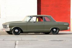 1965 Nova sedan (first posted Chevrolet's bold and daring rear-engined 1960 Corvair was to be GM's ultimate answer to all those pesky imports and the other domestic compacts also […] Chevy Nova, Nova Car, Street Racing, Drag Cars, Pontiac Gto, American Muscle Cars, Hot Cars, Classic Cars, Building