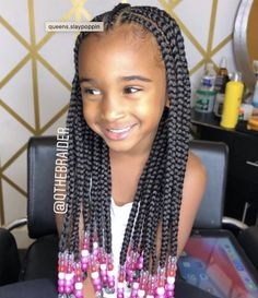 Nice and neat Fulani braids on this little cutie by 😍👌🏾 Lil Girl Hairstyles Braids, Toddler Braided Hairstyles, Black Kids Hairstyles, Natural Hairstyles, Braids For Black Kids, Little Girl Braids, Braids For Kids, Kid Braids, Braids Easy