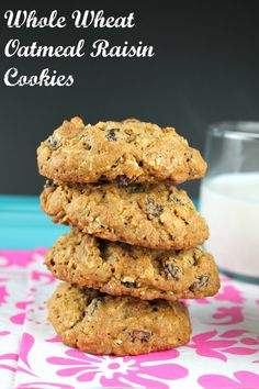 Whole Wheat Oatmeal Raisin Cookies from Miss in the Kitchen