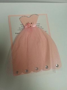 Cute Quinceanera dress invitation ❤🎉🎇🎊🎆❤🎁