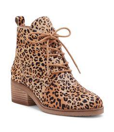 Lucky Brand Tamela Leopard Print Calf Hair Booties 7