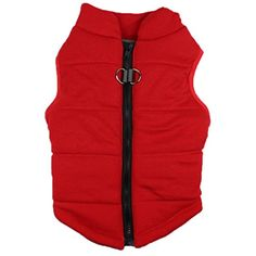 Pet Costume HCFKJ Dog Jackets Cold Weather Dog Vest For Small Dogs Apparel Puppy Coat Cat Warm Clothing Costume (XL, Red) ** Want additional info? Click on the image. (This is an affiliate link) #Dogs