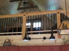 Glamorous Our 20 X 34 112 Story Cabin In Michigan: Loft Railing ...