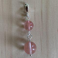 Sterling Silver Cherry Quartz Pendant