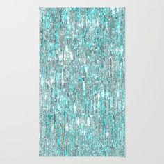The Cold Never Bothered Me Anyway  (Frozen Icicle Abstract) Area & Throw Rug
