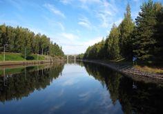 Saimaa canal at Lappeenranta Finland
