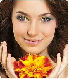 Magic in Marigolds. On In Beauty cream and supplement uses lutein a natural antioxidant sourced from marigolds.