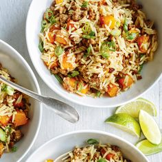 Beef and squash fried rice squash fries, ricardo recipe, chicken and butter Healthy Crockpot Recipes, Rice Recipes, Meat Recipes, Squash Fries, Ricardo Recipe, Chicken And Butternut Squash, Ground Turkey Recipes, Image Healthy Food, Slow Cooker Beef