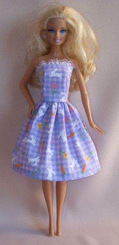 Handmade Barbie Clothes Lavender Easter by PersnicketyGrandma, $5.00