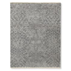 Hand Knotted Snakeskin Rug, Gray | Williams-Sonoma