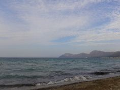 Afternoon sky. Son Serra de Marina. Mallorca. Spain