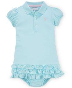 Ralph Lauren Baby Girls' Polo Dress & Bloomer Set | macys.com