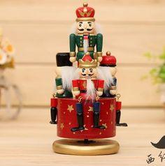 20cm music box nutcracker birthday gift decoration-1pcs