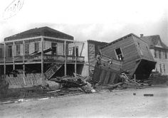 The Galveston and Texas History Center photographic holdings at the Rosenberg Library number close to 80,000 images. One of the collections documents the hurricane that destroyed Galveston on September 8, 1900, still the deadliest natural disaster in United States history. The storm claimed upwards of 8,000 lives on Galveston Island and several thousand more on the mainland. In Galveston, it destroyed 2,636 houses and left thousands more damaged.
