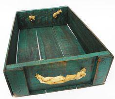 Caixa de Frutas Reciclada - Bandeja - Altura 10cm - largura 26cm - comprimento 42cm Mais
