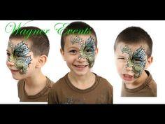 Dragon face paint tutorial