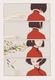 Big Fish and Begonia fanart Art And Illustration, Aesthetic Anime, Aesthetic Art, Pretty Art, Cute Art, Manga Art, Anime Art, Manga Anime, Sad Anime
