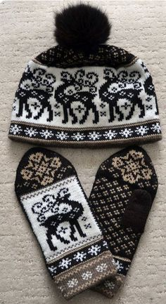 NORWEGIAN Scandinavian Hand Knitted wool HAT and MITTENS set and similar items sold by Etsy (NordicStarStudio), Oakville, Canada (no pattern available) Mittens Pattern, Knit Mittens, Knitted Hats, Knit Crochet, Crochet Hats, Fair Isle Pattern, Knitting Charts, Knitting Projects, Crochet Patterns